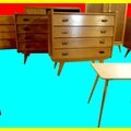 Meubles vintage 1950 1960 1970 commodes buffets armoires chaises tables ...