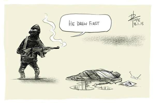 He_drew_first