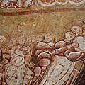 Vic, église Saint-Martin, fresques, détails