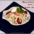 Coquille de macédoine de légumes aux fruits de mer