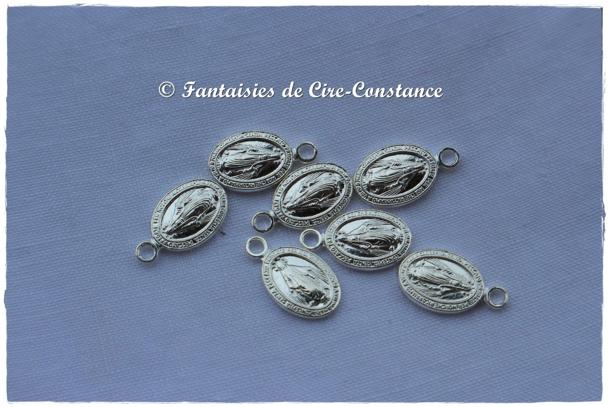 5a.Médailles miraculeuses argent massif 12 mm