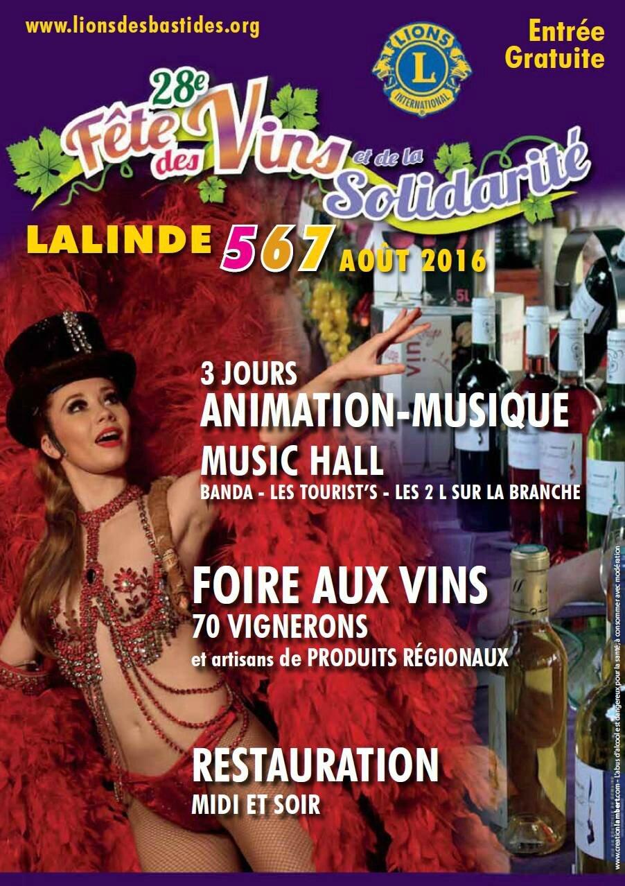 Bientôt la fête des vins et de la solidarité à Lalinde