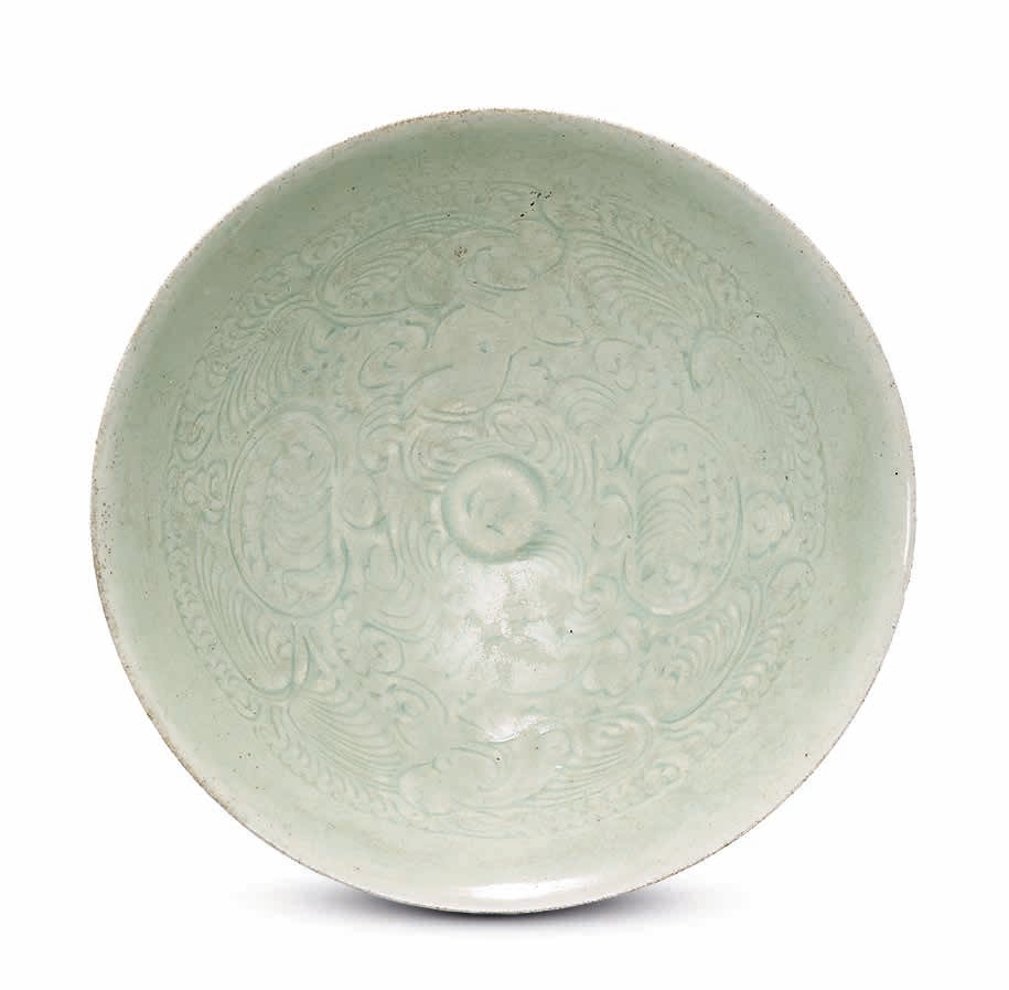 A carved Qingbai 'Babies' bowl, Song Dynasty (960-1279)