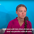 Greta thunberg : vous avez volé mes rêves et mon enfance - how dare you ? - greta thunberg at climate action summit september 23