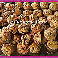 Minis cakes aux champignons et jambon cru