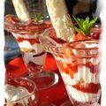 Verrine douceur aux fraises & fromage blanc (dessert léger et gourmand)