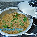 Curry rouge thaï de porc à l'ananas