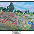 reproduction de monet les coquelicots par stephanie guyon OF
