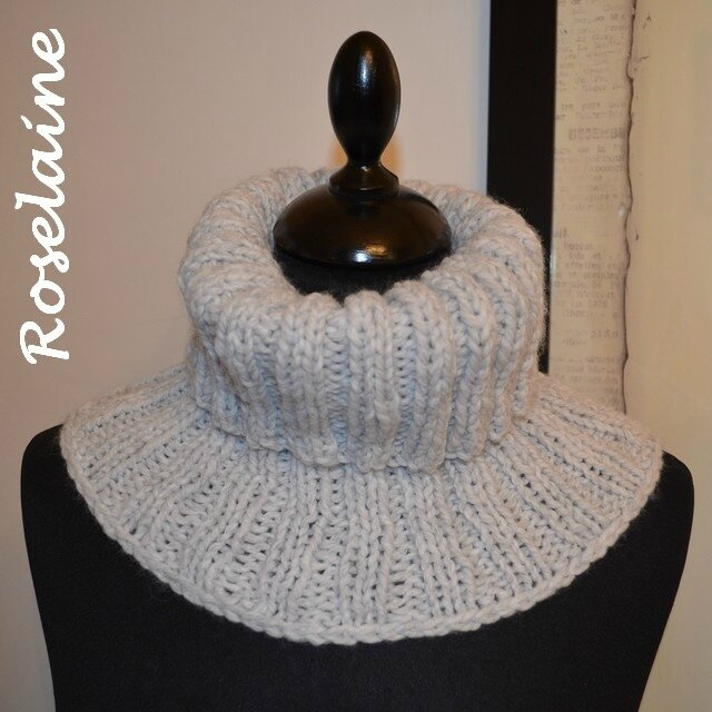 Roselaine snood côtes