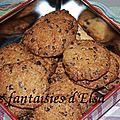 Cookies choco-noix de coco