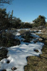 neige en haut baou de la gaude