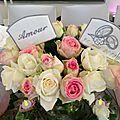 pics floraux personnalisés pour table d'honneur par amd a coudre