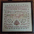 Sampler aux roses (antique)