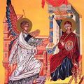 L'annonciation de la sainte vierge