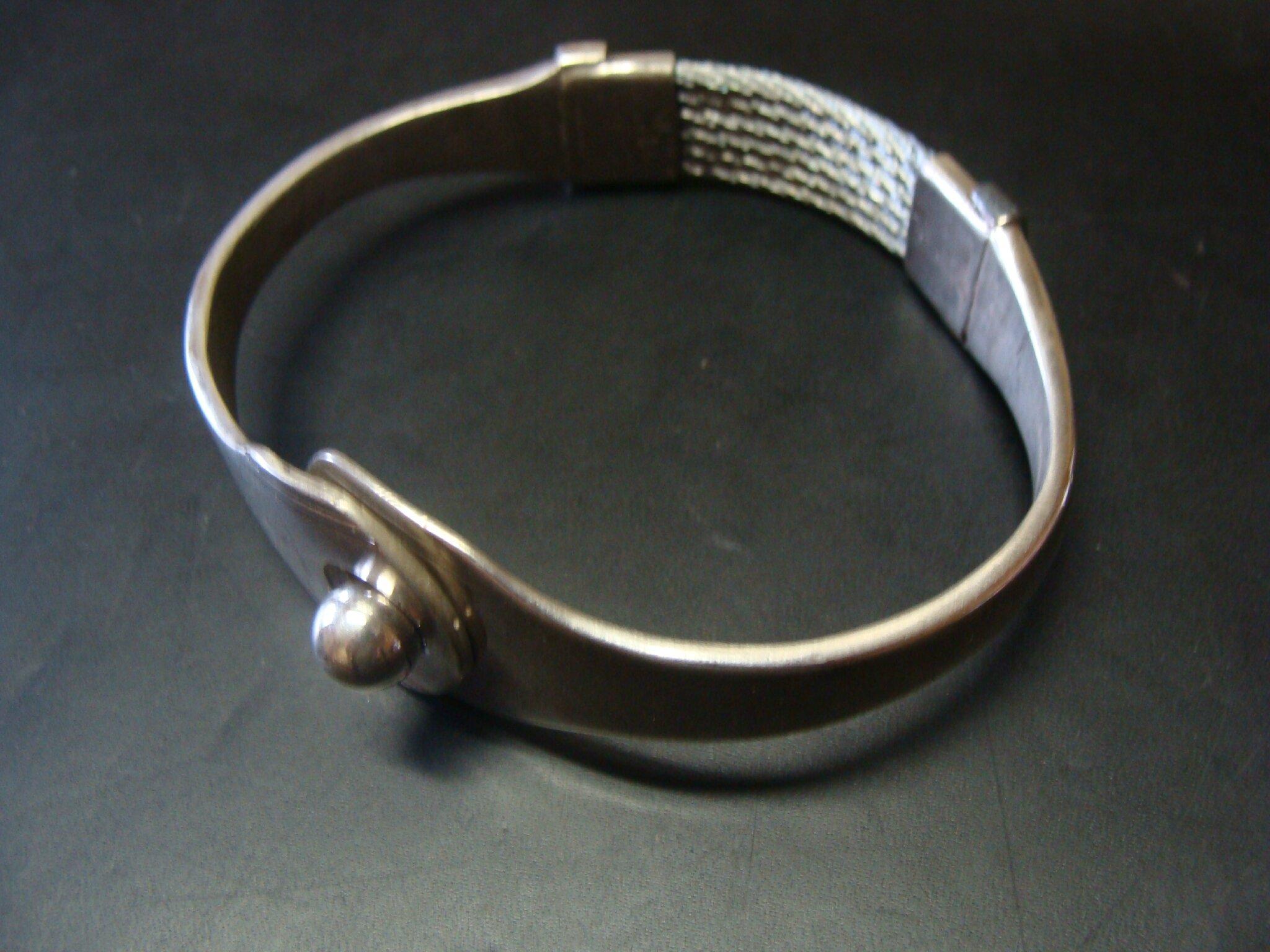 bracelet cuillère argent inox