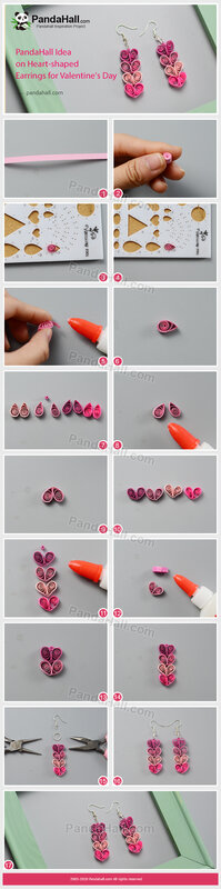 3-PandaHall Idea on Heart-shaped Earrings for Valentine's Day