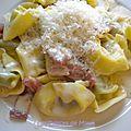 Tortellini, sauce crémeuse à la pancetta