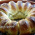 Pain chenille brioche- au lait- beurre - fleur d'oranger