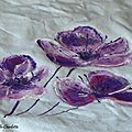 Fleurs de cerisier ...peinture textile...
