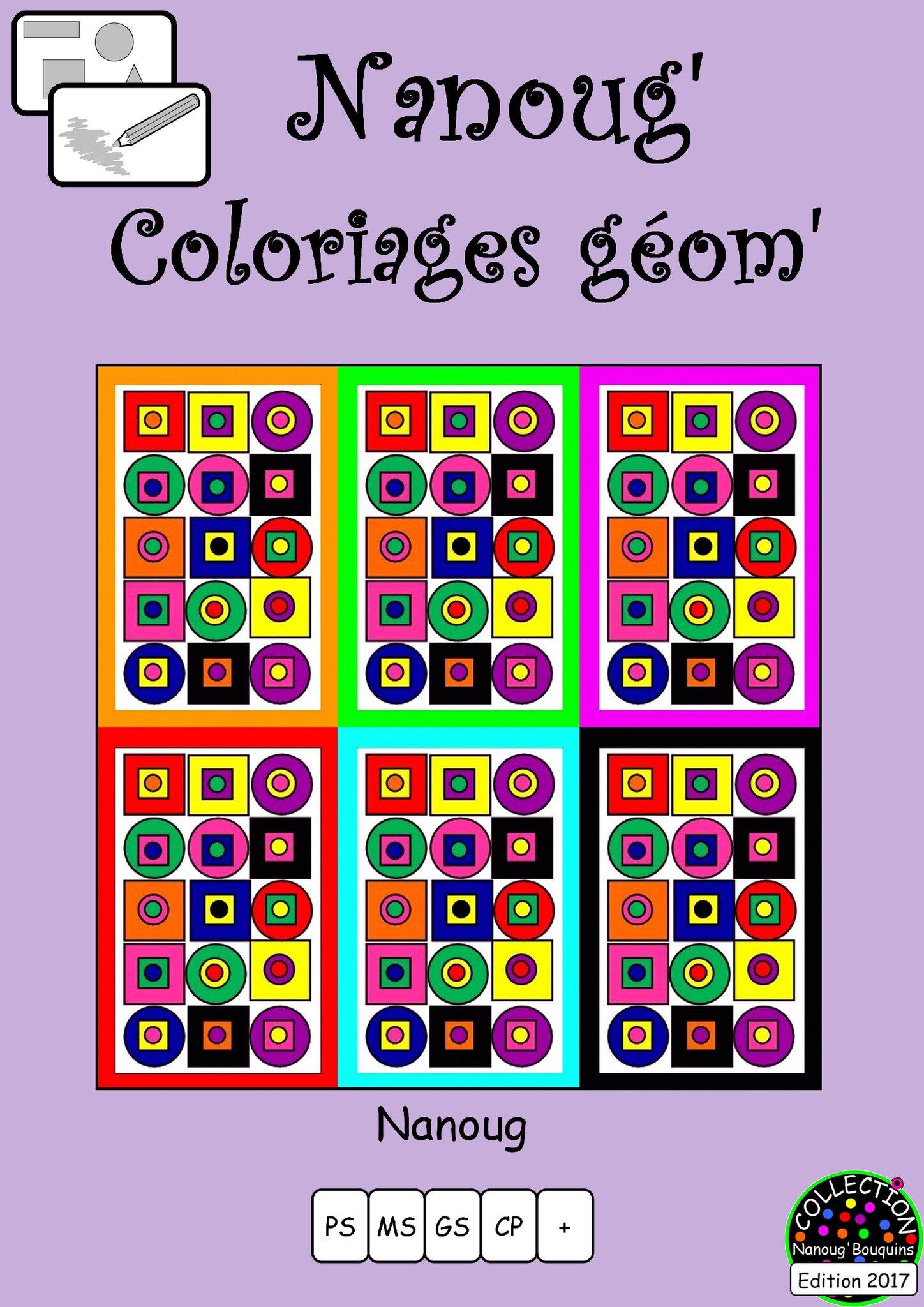 Les Nanoug Coloriages Géométriques Le Tour De Ma Classe