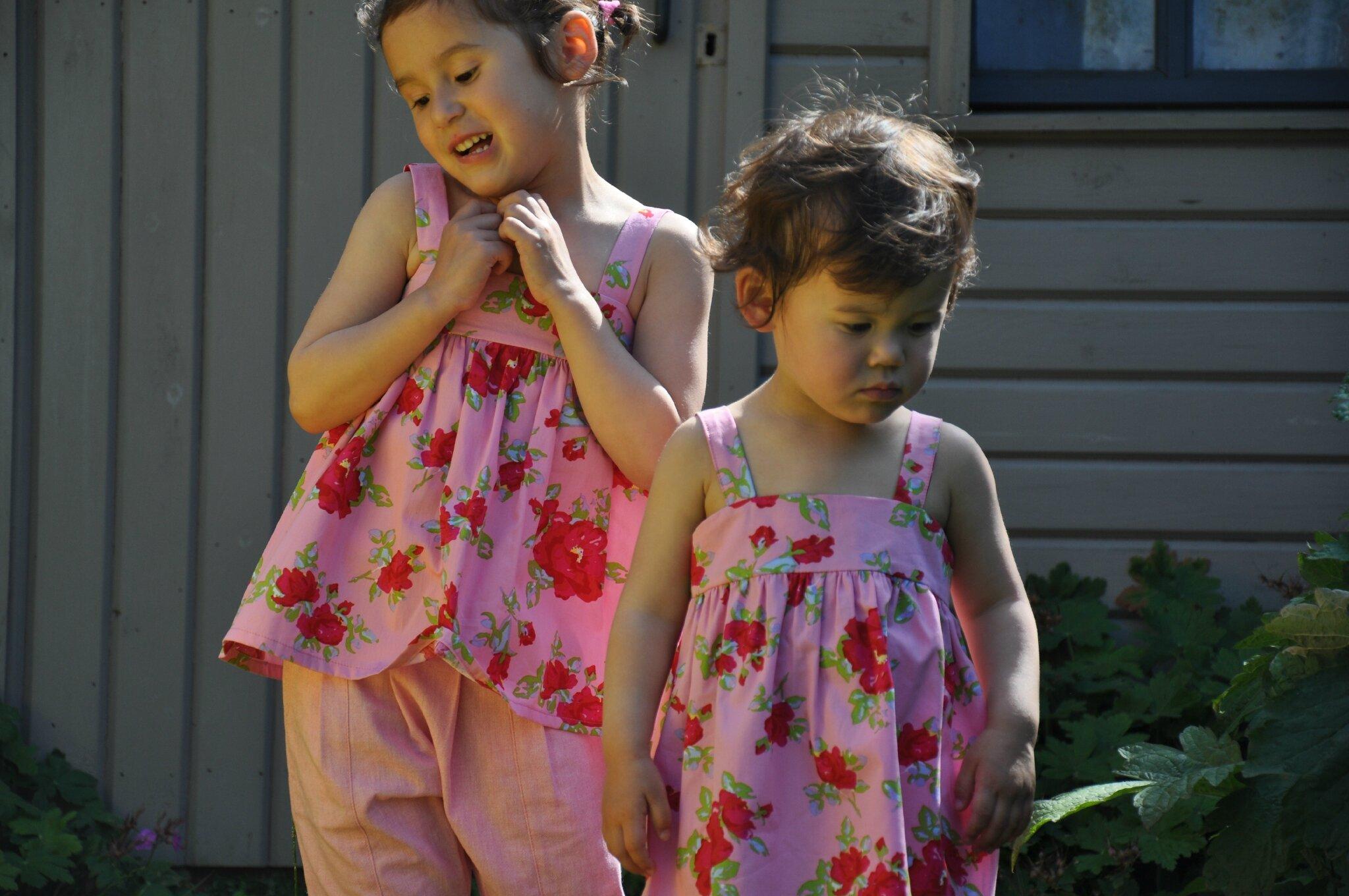 Deux roses dans le jardin