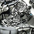 Hervé THAREL - SCHMIMBLOCK'S alba nera 2013 - acrylique sur plastiroc 57x49cm détail1