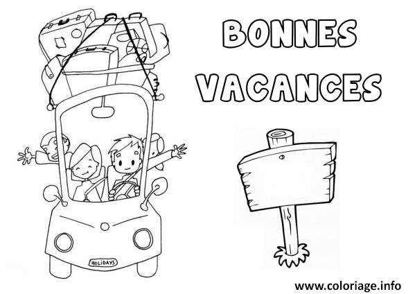 Coloriages Bonnes Vacances Assistante Maternelle Argenteuil Orgemont
