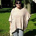 Le poncho katia porté