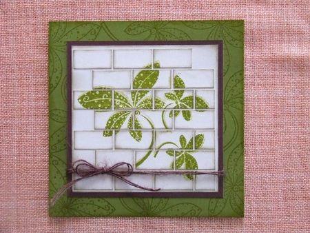 carte mur de briques vert