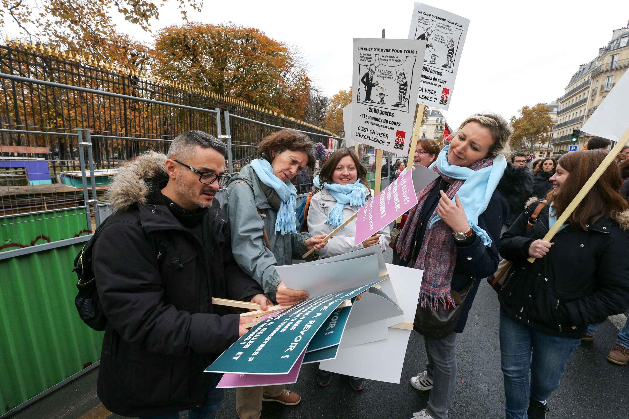 Éducation : pourquoi des profs font grève ce lundi. © Michel Stoupak. Lun 12.11.2018.