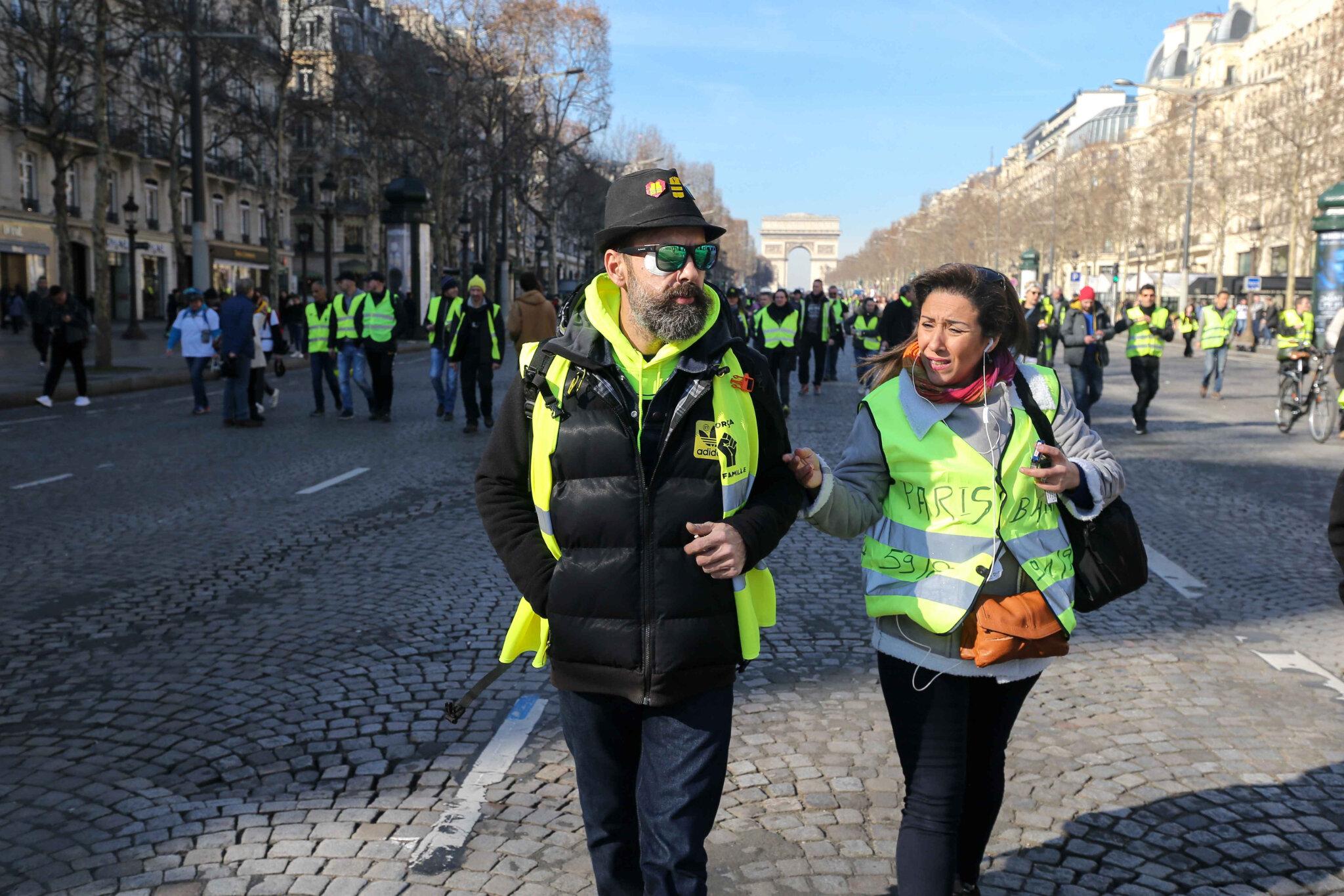 « Acte 14 » des « gilets jaunes » : 41.500 manifestants ont défilé en France. © Michel Stoupak. Sam 16.02.2019, 12h19m56.