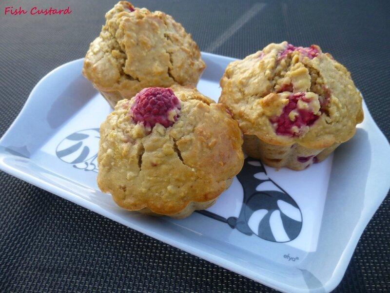 Muffins sains aux flocons d'avoine et framboise (3)