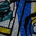 la Dame au Poudrier - détail mosaïque-