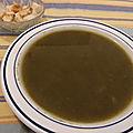 Soupe de fanes de fenouil