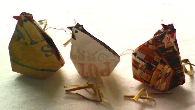 poules origami 2 avril 2015
