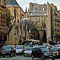 Saint-Séverin depuis la rue Saint-Jacques.