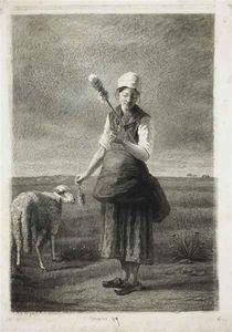 bergère portant quenouille