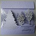 Atelier carte bois hivernaux et carte pop'up! refuge rustique