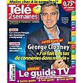 George clooney en couv du magazine télé 2 semaines : j'ai fait des tas de conneries dans ma vie