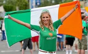 supportrice république d'irlande
