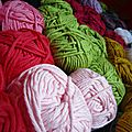 Plaid marathon et bracelet recouvert au crochet (mini tuto inside)