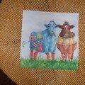 Vaches ( 2 motifs) 16*16