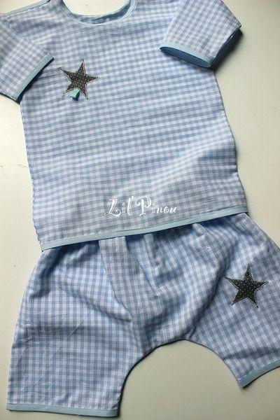 petit pyjama d'été 2 pièces en coton léger
