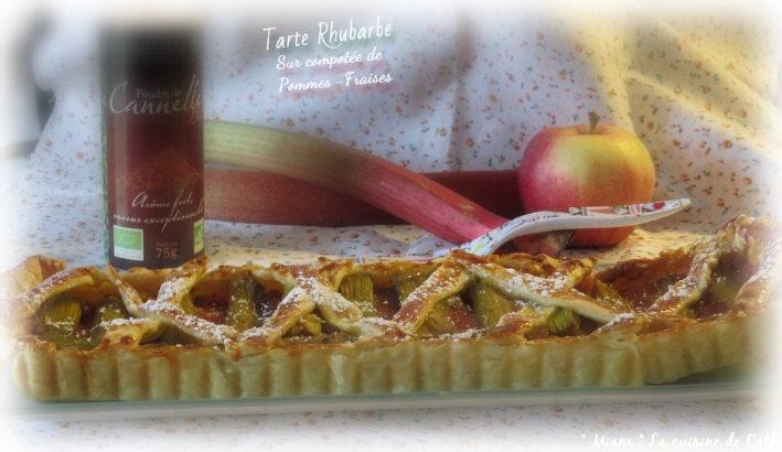 tarte pommes fraises rhubarbe2