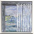 Evasion-acryl 2012-cadre blanc- 40X40 cm- (n°29)