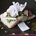 Jean luc tartarin #2: lieu jaune basse température et légumes croquants au citron