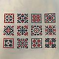Sal petits carrés brodés (8 à 12)