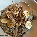 Porridge de quinoa, à la banane et au sirop d'érable