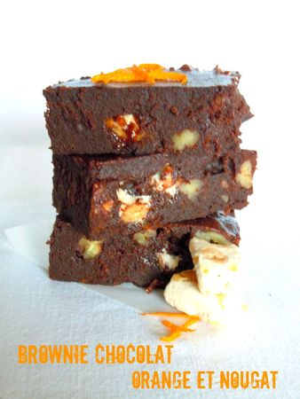 brownie orange nougat chocolat 1