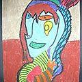 Art visuel : le cubisme - portrait -